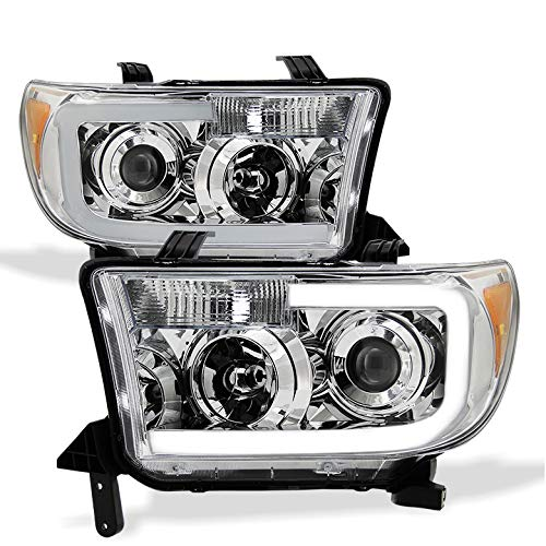 ra, 2008-2016 Sequoia Light-Tube-DRL Projector Headlights w/DRL-Light-Tube Built-in 2008 2009 2010 2012 ()