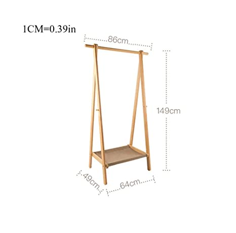 Amazon.com: WYQSZ - Perchero de pared de madera maciza para ...