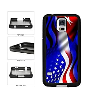Cuba and USA Mixed Flag TPU RUBBER SILICONE Phone Case Back Cover Samsung Galaxy S5 I9600