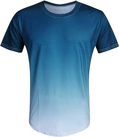 Holataa Camisetas Manga Corta Hombre Camisas Casual Hombre Degradado Camisetas Deporte Hombre Fitness, Runing: Amazon.es: Ropa y accesorios