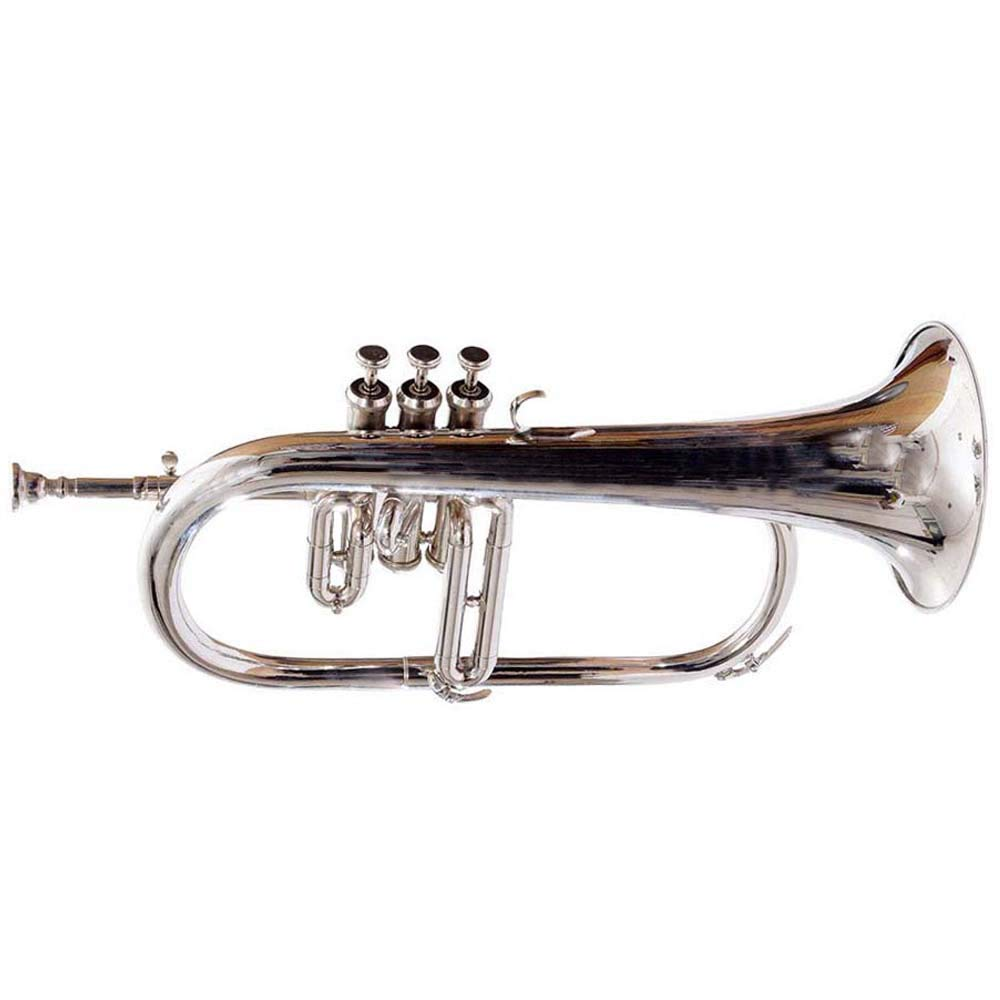SC EXPORTS Bb Flat Silver Nickel Flugel Horn With Free Hard Case+Mouthpiece by SCEXPORTS (Image #2)