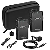 Movo WMIC10-G 2.4GHz Wireless Lavalier Microphone System for GoPro HERO3 - HERO3+ and HERO4 Black - White and Silver Editions (82-foot Transmission Range)