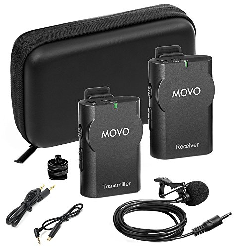 Movo WMIC10 2.4GHz Wireless Lavalier Microphone System for GoPro HERO3,...