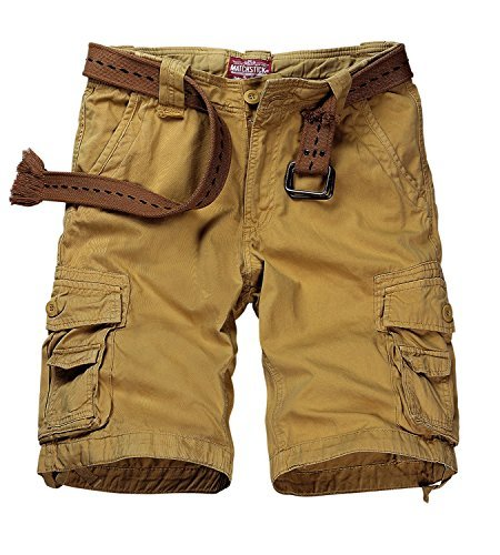 Match Men's Twill Comfort Cargo Short Without Belt #S3612 (Label size 2XL/36 (US 34), Khaki)