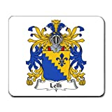 Lelli Family Crest Coat of Arms Mouse Pad