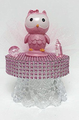 Admirable Baby Shower Pink Girl Owl Party Cake Topper Centerpiece Decoration Interior Design Ideas Skatsoteloinfo