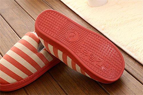ALUK-glisser paquet de bande avec une paire à fond épais de pantoufles chaudes