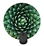 Green Seamless Plant Cactus Round Mouse Pad Anti-Slip Mouse Pad Game Office Mouse Pad