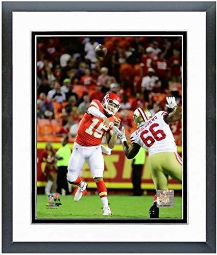 8X10 Framed and Matted Photo Patrick Mahomes NFL Kansas City Chiefs Action Shot #1 1 Kansas City Chiefs Framed