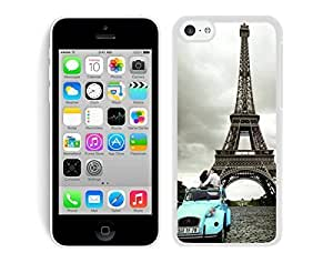 Eiffel Tower Unique Design iPhone 5c Case White Cover Best Gift Cell Phone Accessories