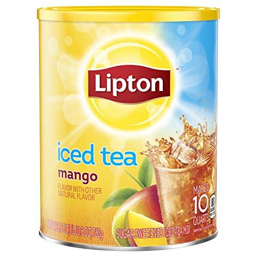 - Lipton Iced Tea Mix, Mango Sweetened, 10 qt Pack of 6