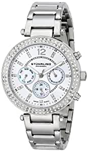Stuhrling Original Women's 888.01 Vogue Damsel Analog Display Swiss Quartz Silver Watch