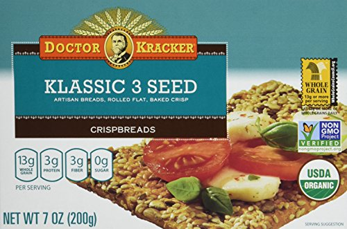 Doctor Kracker Organic Crispbread, Klassic 3 Seed, 7 Ounce (Pack of - Salmon Smoked Crackers