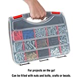 Portable Storage Case with Secure Locks and 17