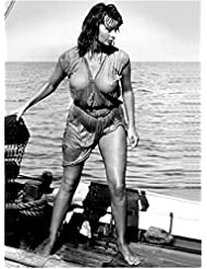 Sophia Loren Soaking Wet on Boat Out to Sea 8 x 10 Inch Photo