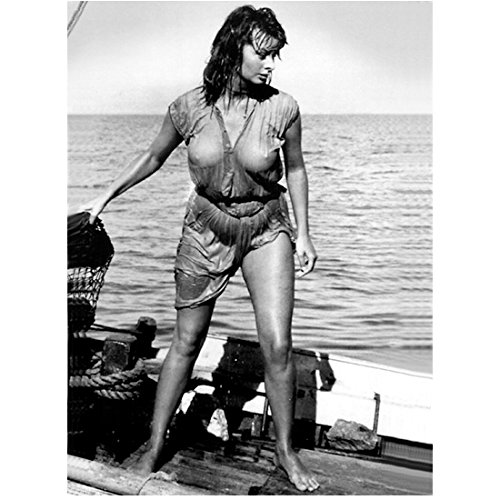 Sophia Loren 8x10 Inch Photo Houseboat El Cid Two Women B&W looking at ocean