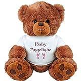 Baby Girl Bear for Angelique: Medium Plush Teddy Bear