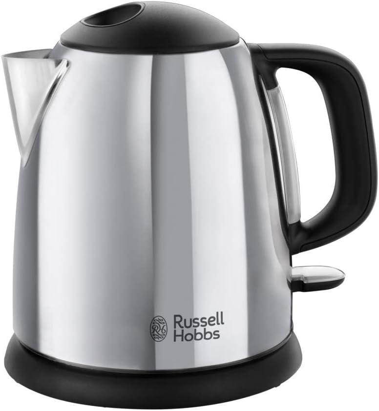 Russell Hobbs  24990-70 Victory - Hervidor de Agua Eléctrico acero inox detalles en plastico, 2200W, 1 litro