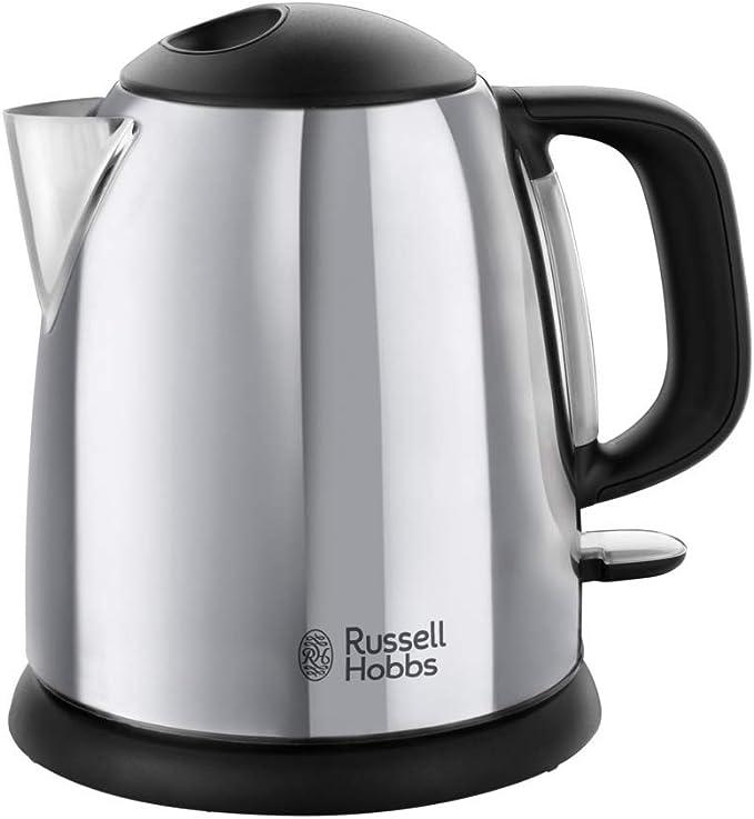 Russell Hobbs 24990-70 Victory - Hervidor de Agua Eléctrico acero inox detalles en plastico, 2200W, 1 litro: Amazon.es: Hogar