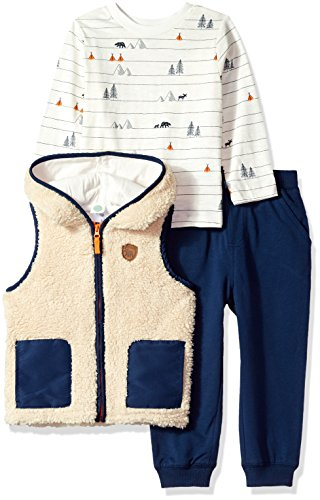 Little Me Baby Boy's 3 Piece Vest Set,