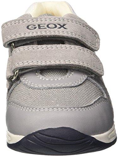 Rishon Zapatillas Bebés Gris white Geox Para B A grey awHqnWxZT5