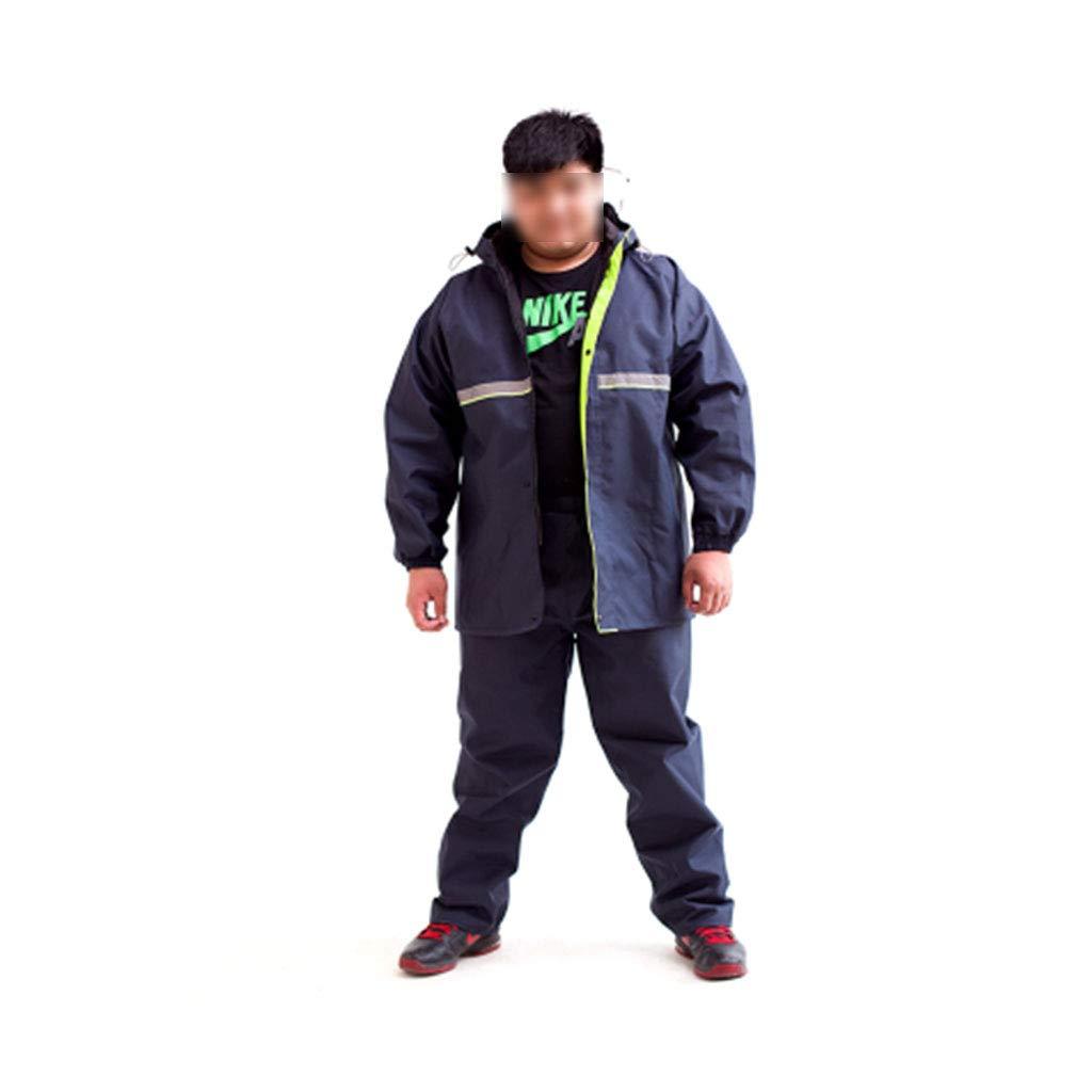 Bleu Marin XX-grand DQMSB Pantalon de Pluie Double imperméable Split très Grand imperméable Lumineux épaissi Plus Graisse Plus Taille Adulte Unisexe (Couleur   Bleu Marin, Taille   XXXXL)