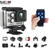 SJCAM SJ7 Star Kit SJ7 Camera with Accessories, SJCAM Remote Watch Real 4K Action Camera Wifi Waterproof Underwater Camera Ambarella Chipset 30FPS/Sony Sensor 12MP Gyro Stabilization-Silver