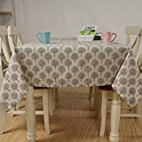 Pastoral printed table cloth fabric tablecloth table Bugaboo , gray , 140*140