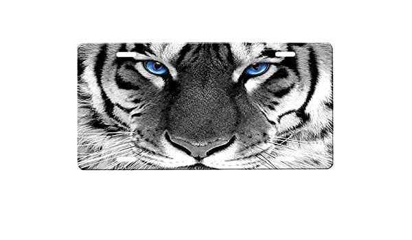 onestopairbrushshop White Tiger License Plate