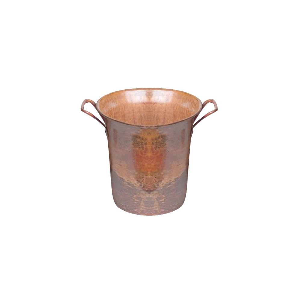 Orion Trading C16-R Rustic Copper Wine Bucket with Square Handles