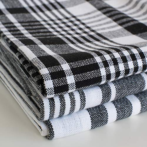 Now Designs Jumbo Pure Kitchen Towel Set of 3, Black