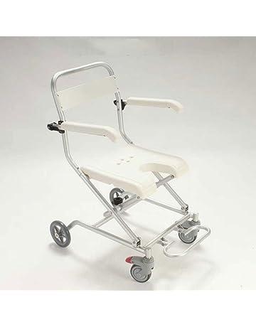 RAQ Silla de baño de aleación de aluminio con ruedas silla de ducha de silla de