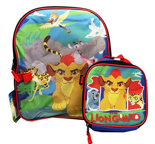 "Price comparison product image Leader Of The Lion Guard 12"" Toddler School Backpack Plus Lunch Bag"