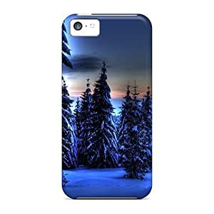 Awesome Design Blue Winter Hard Case Cover For Iphone 5c