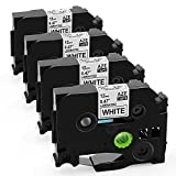 Startup P-Touch Label Tapes TZ TZe-231 TZe 231 Standard Laminated Label Cassette Compatible with Brother P Touch PT-D210 PTH110, 1/2 inch (12mm) Black on White, 26.2 Feet, 4-Pack