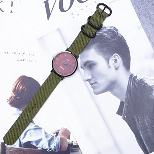 ZHUGEナイロン時計ストラップ 24mm 黒の高級絶妙な男性 NATO ベルト 取り替え工具付