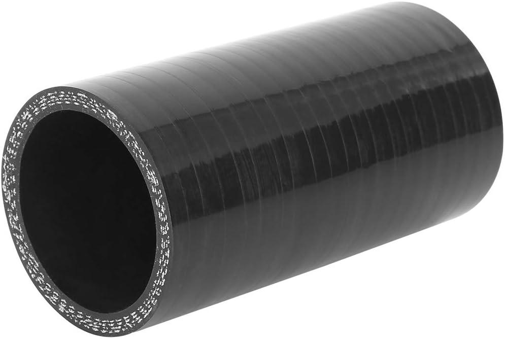 X AUTOHAUX 45mm ID Nero Dritto Tubo Silicone Accoppiatore Intercooler Tubo