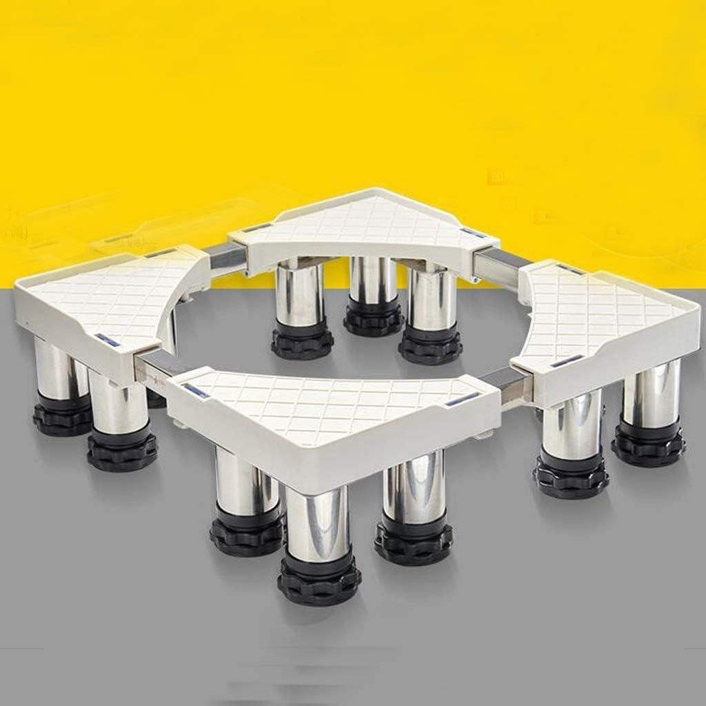 ホワイト家電ベースステンレスブラケット洗濯機ドライヤーベース(サイズ:H29-32cm)