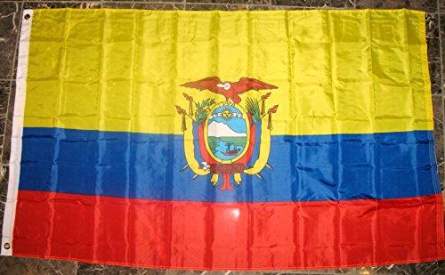 Ecuador Flag 3'x5' Coat of Arms Banner ()