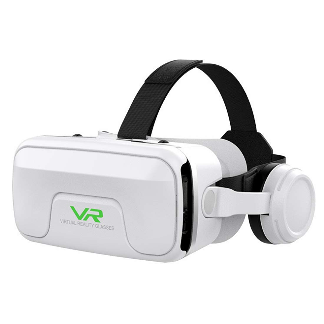 Macxz VR Headset, IMAX Giant Screen Experience Viewing, New Experience, 360° Viewing Angle, Suitable for Most 4.7-6.0 inch Android and iOS Smartphones on The Market, White