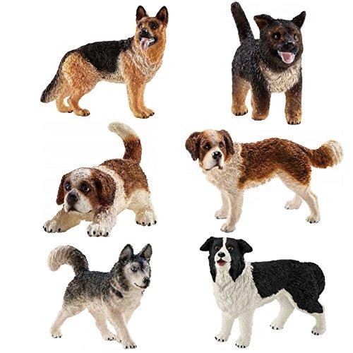 Schleich Dog and Puppy Gift Set - 6 Schleich Dogs and Puppies