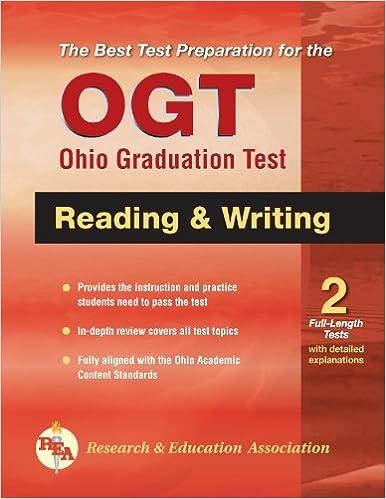 OGT Ohio Graduation Test Reading And Writing Ohio