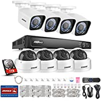 ANNKE 8CH 1080P Professional NVR Security System and (8) HD 2.0MP IP Cameras with 1/2.8 Progressive Scan CMOS, 1TB Surveillance Hard Disk Drive Pre-installed