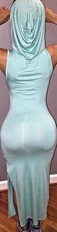 Agoodic Women's Twin Cap Long Bottoming Sexy Clubwear Dress