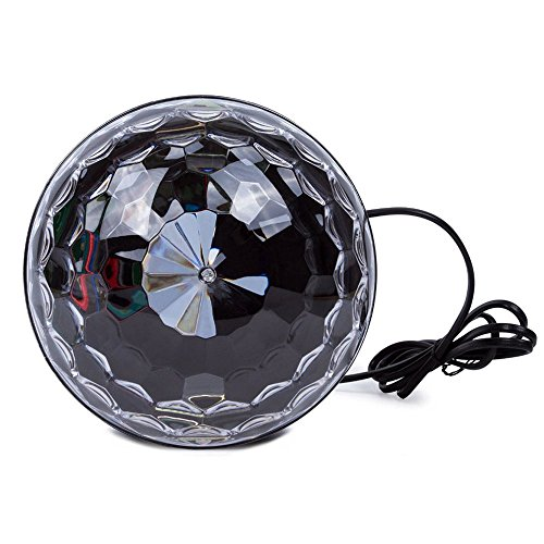 YouOKLight Sound Activated 6 Color LED Music Crystal Magic Ball MP3 Disco DJ Stage Lighting with Remote Control for Home Room Dance party Birthday Gift Kids Club Wedding Decorations by YouOKLight (Image #2)