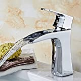 AWXJX Washbasin Hot And Cold Single Hole Waterfall Single Handle Bathroom Blender Copper Sink Taps
