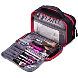 Best Makeup Bags - BAGSMART Compact Cosmetic Bag Clear Makeup Bag Review