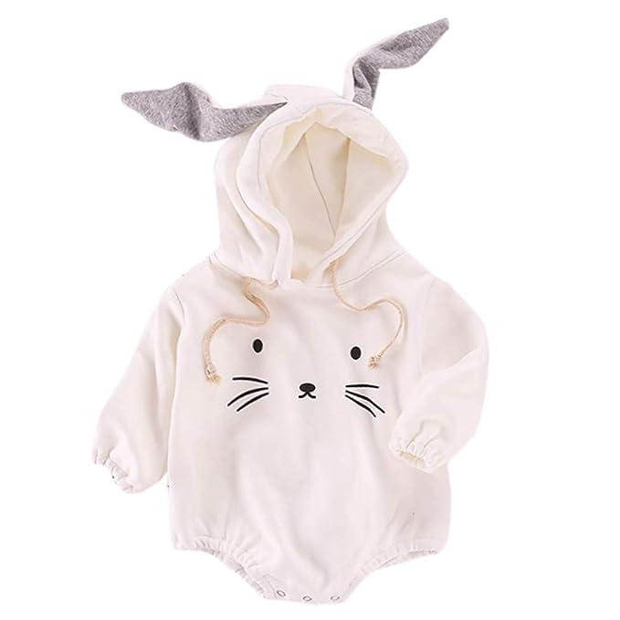 Mitlfuny Invierno Mameluco de Algodón para Bebe Recien Nacido Niñas Peleles Monos de Manga Larga Conejo