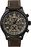 Timex Men's T49905 Expedition Rugged Field Chronograph Black/Brown (Small Image)