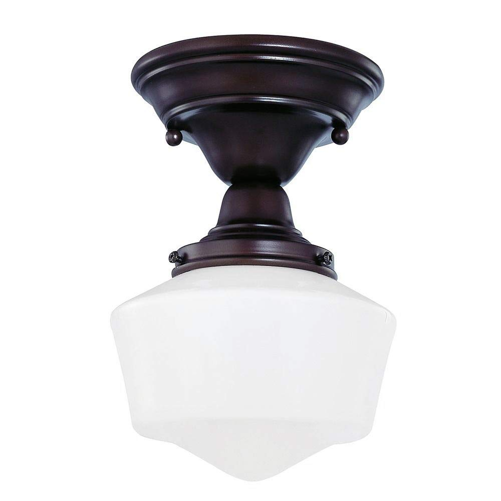 6-Inch Schoolhouse Ceiling Light in Bronze Finish